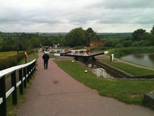 Picture from top of the locks
