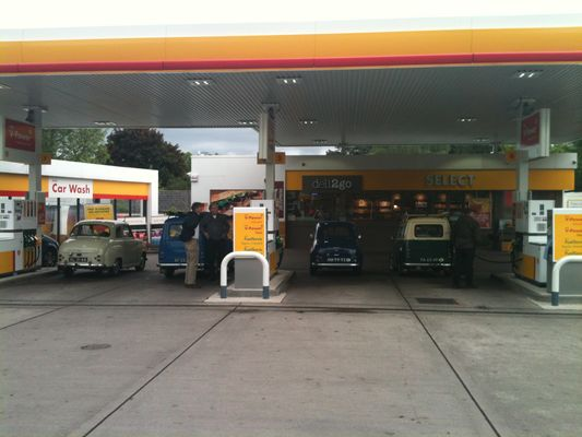 filling up the Austin's