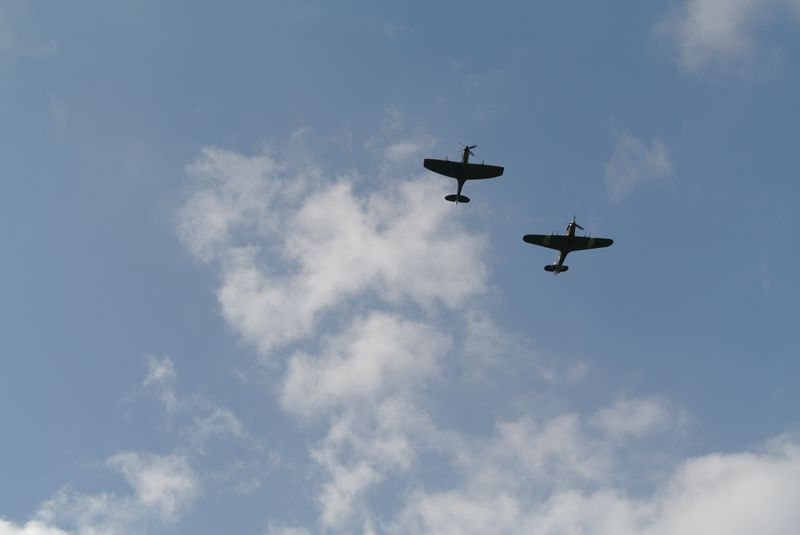Spitfire and Hurricane