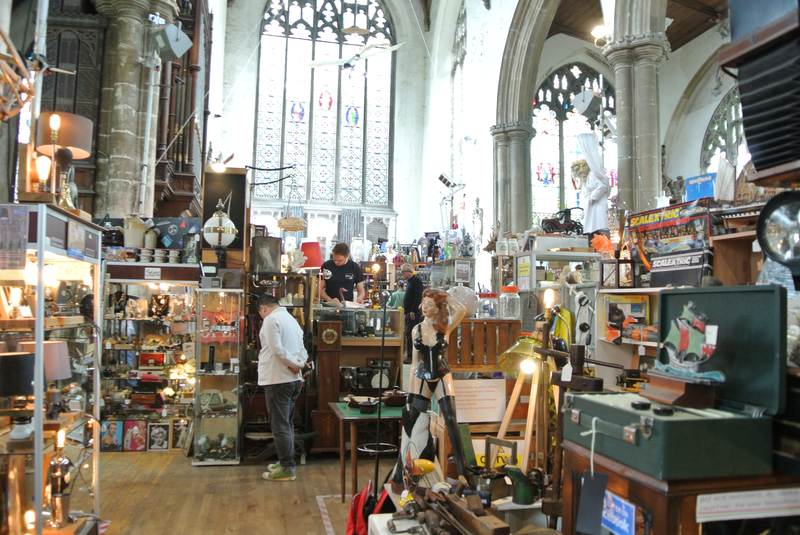 Church filled with antiques