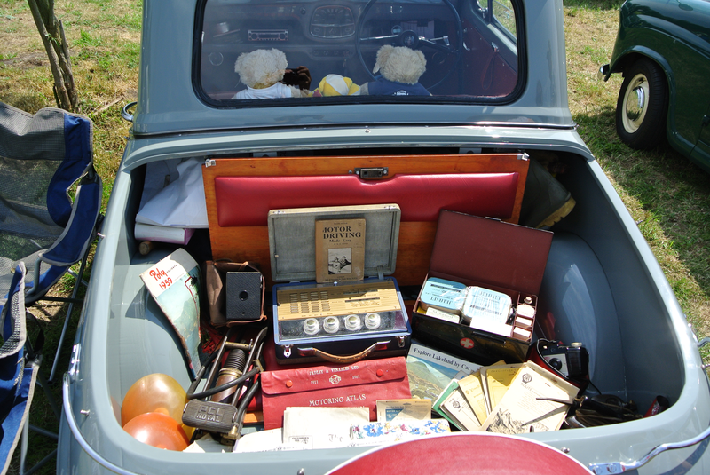 A small collection in a collectable car.